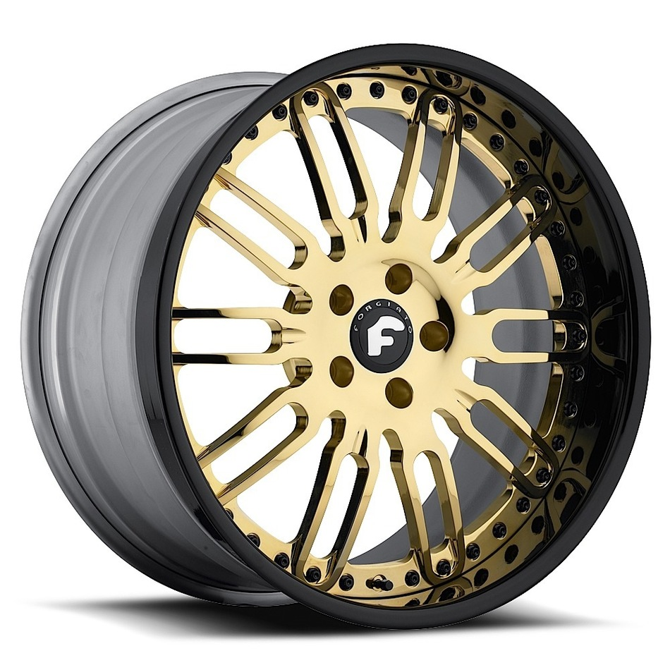 Forgiato Taglio Gold Center with Black Lip Finish Wheels