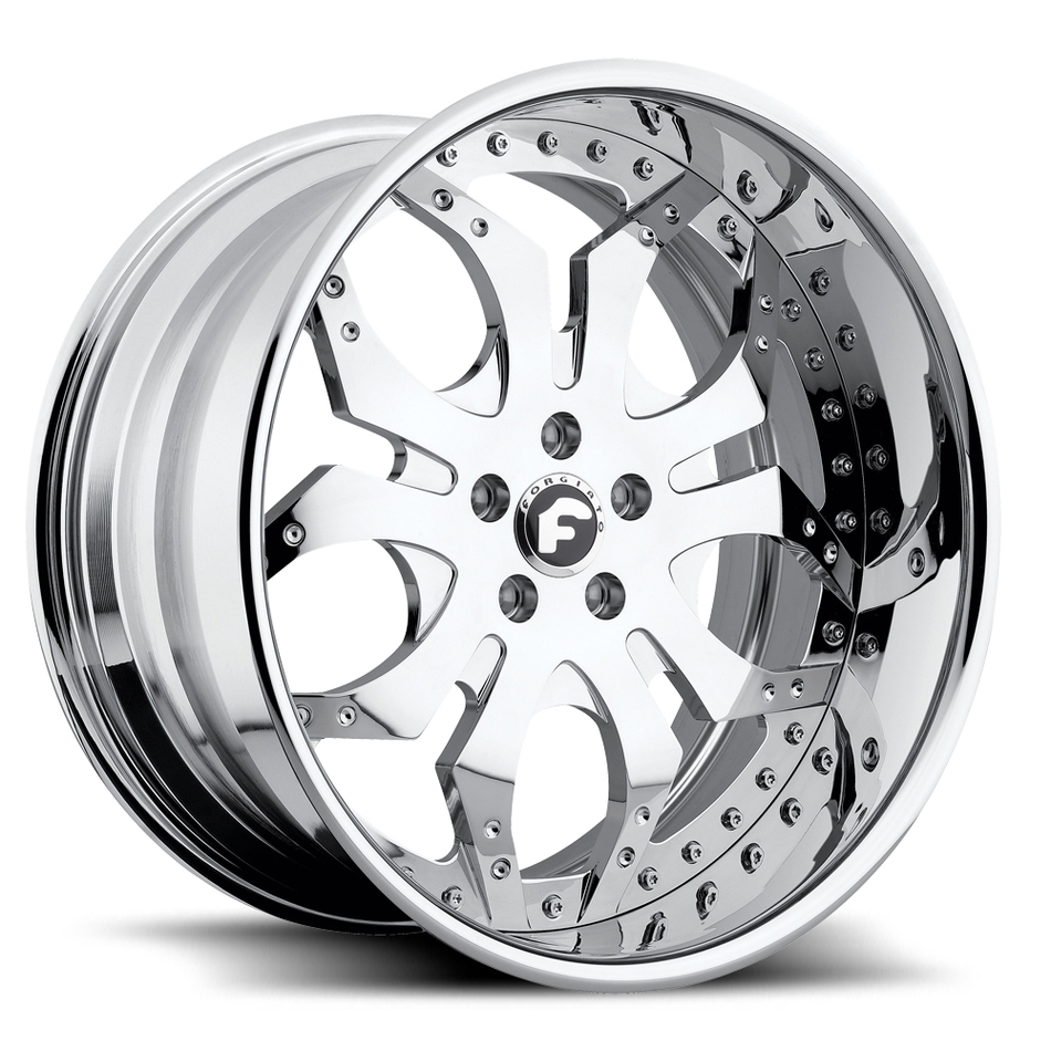 Forgiato Tello Chrome Finish Wheels