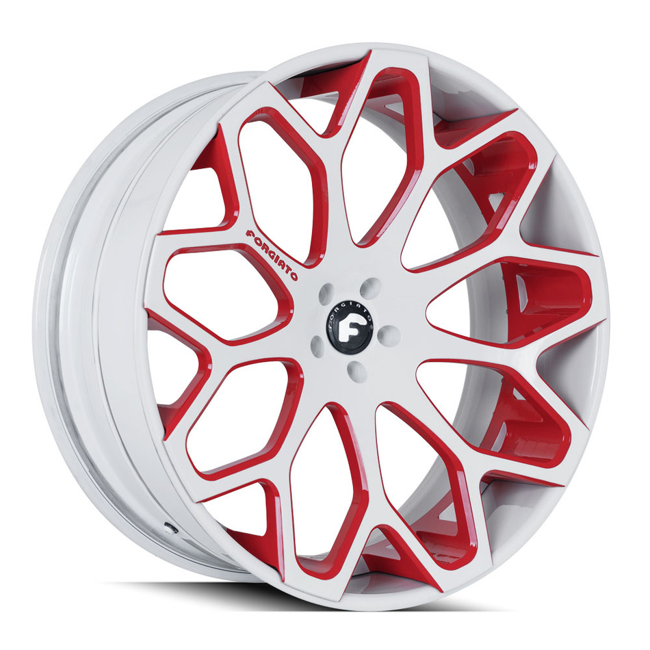 Forgiato Tessi-ECL White and Red Finish Wheels