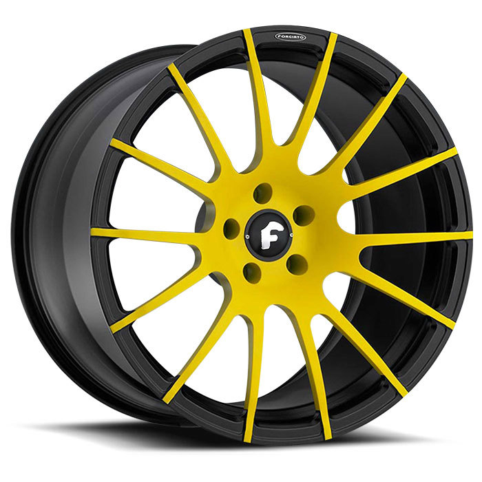 Forgiato Titanio-M Yellow and Black Finish Wheels
