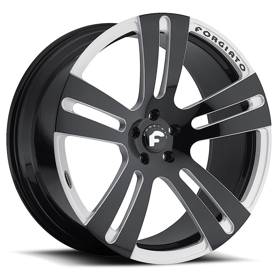 Forgiato Tratto-M Black and Satin Finish Wheels