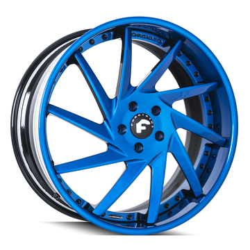 Forgiato Troppo-B Blue and Black Finish Wheels