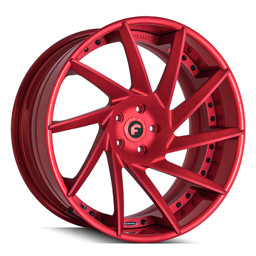Forgiato Troppo-ECL Satin Red Finish Wheels