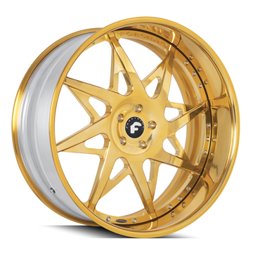 Forgiato Turni Gold Finish Wheels