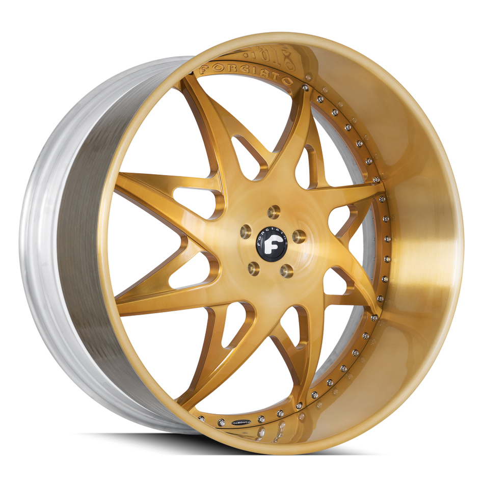 Forgiato Turni Brushed Gold Finish Wheels