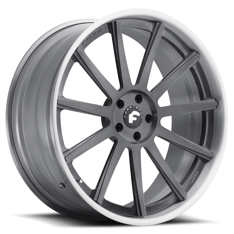 Forgiato Undice-C Grey Center and Satin Lip Finish Wheels