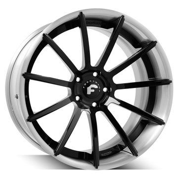 Forgiato Undice-ECL Black Center with Silver Lip Finish Wheels
