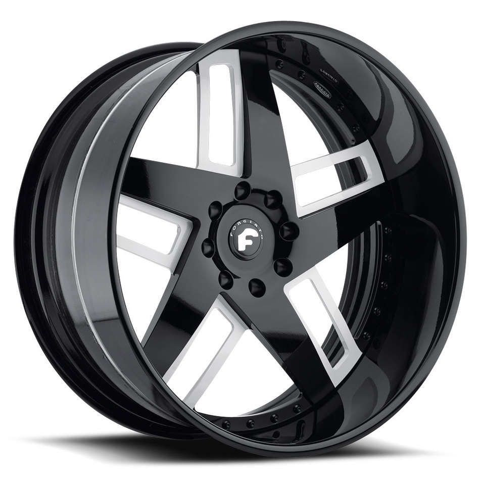 Forgiato Veccio Satin and Black Center with Black Lip Finish Wheels