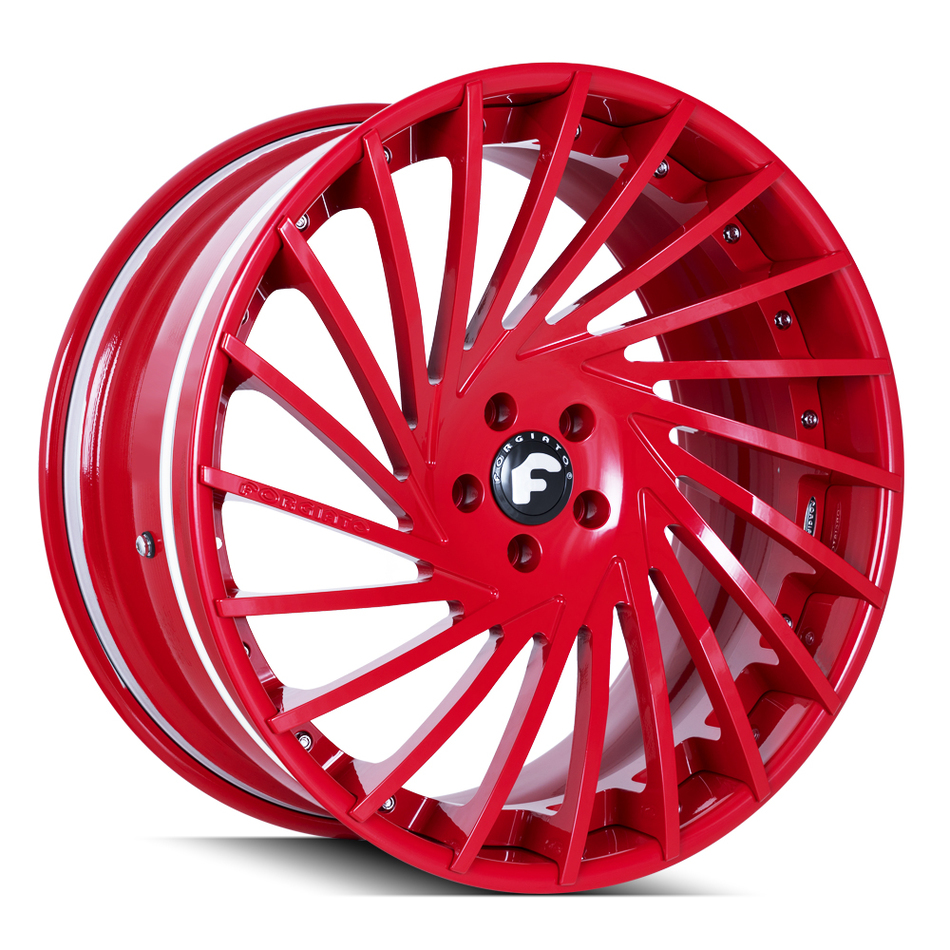Forgiato Ventoso-ECL Gloss Red Finish Wheels