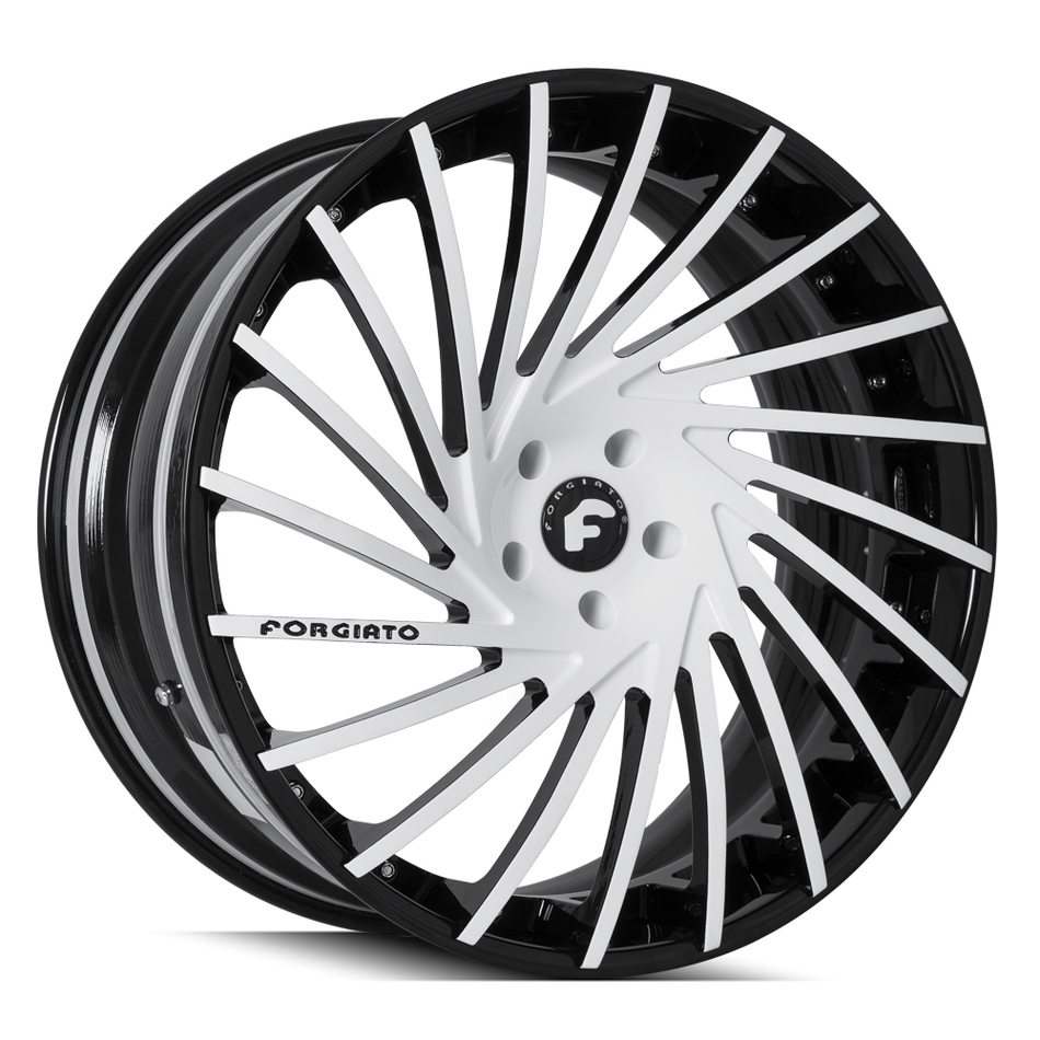 Forgiato Ventoso-ECL White and Black Finish Wheels