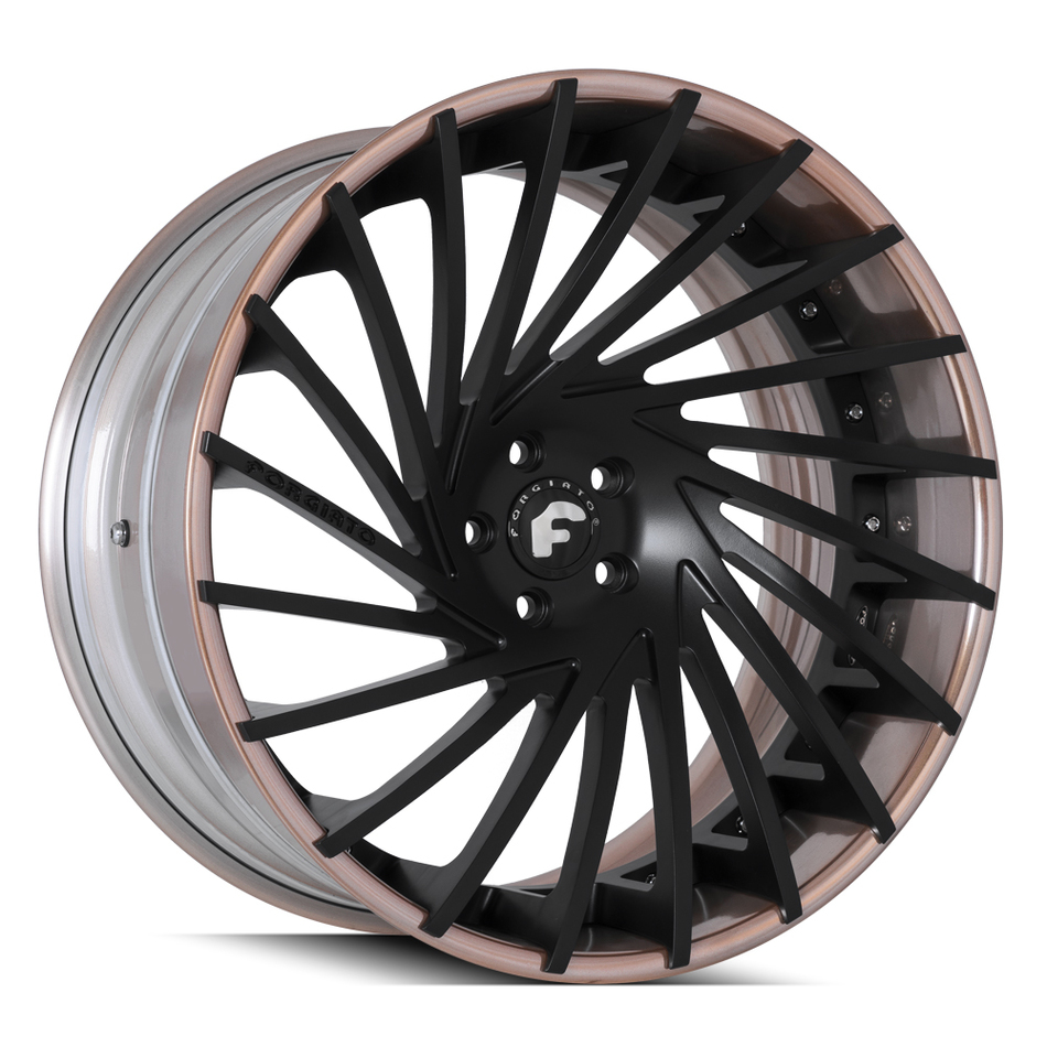 Forgiato Ventoso-ECL Black and Copper Finish Wheels