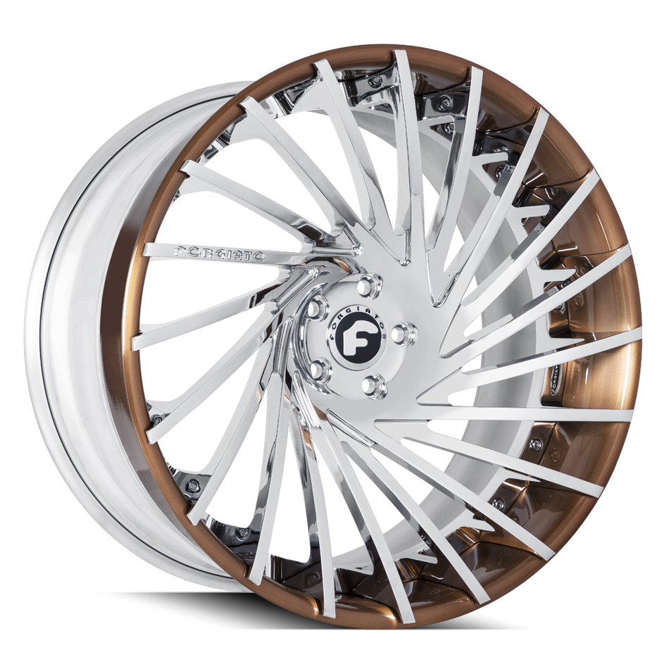 Forgiato Ventoso-ECL Chrome and Copper Finish Wheels