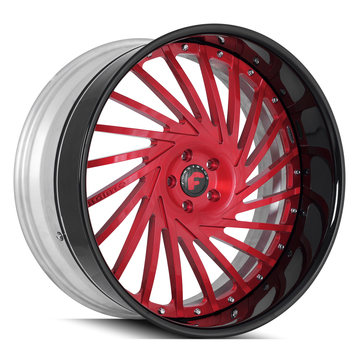 Forgiato Ventoso Red and Black Finish Wheels