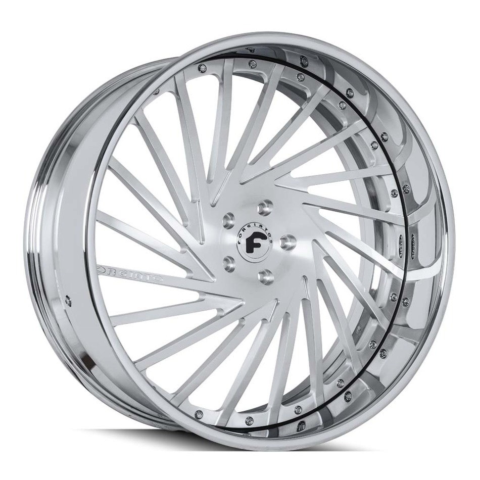 Forgiato Ventoso Brushed and Chrome Finish Wheels
