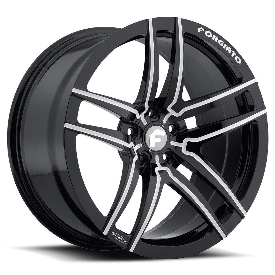 Forgiato Vizzo-M Black and White Finish Wheels