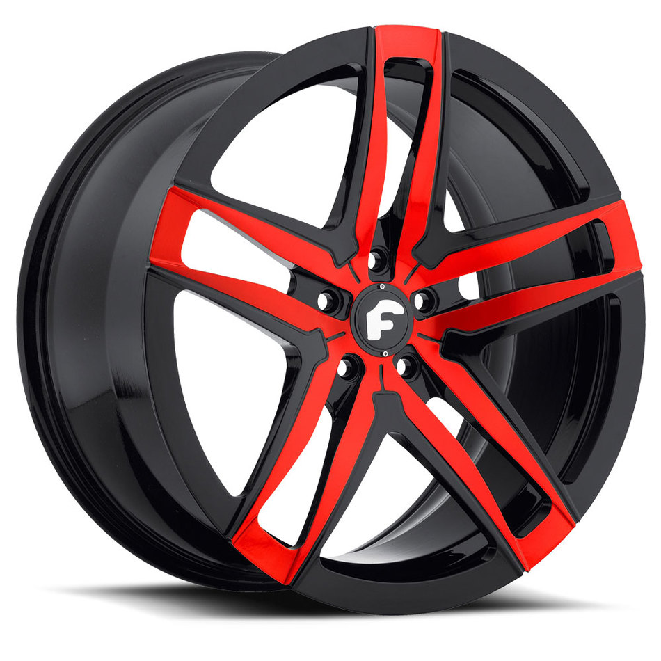 Forgiato Vizzo-M Red and Black Finish Wheels