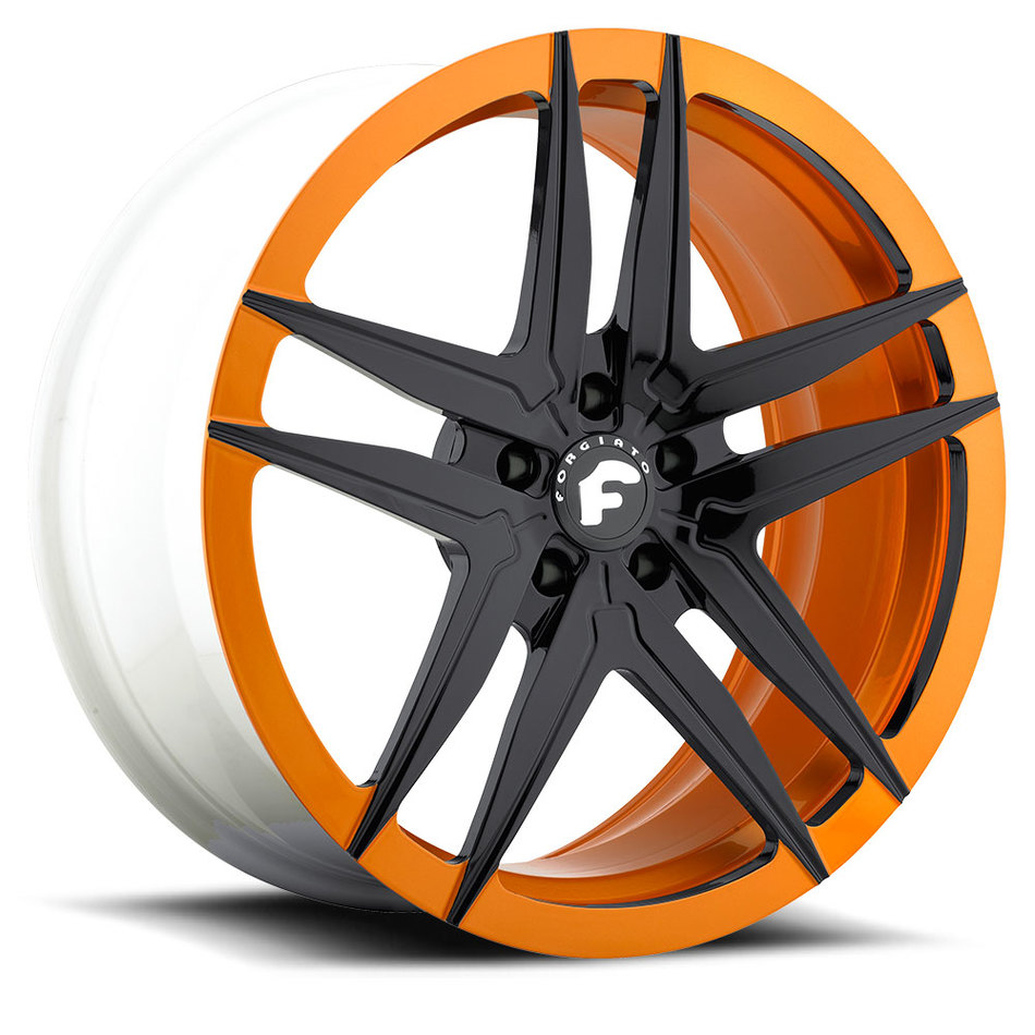 Forgiato Vizzo-M Orange and Black Finish Wheels