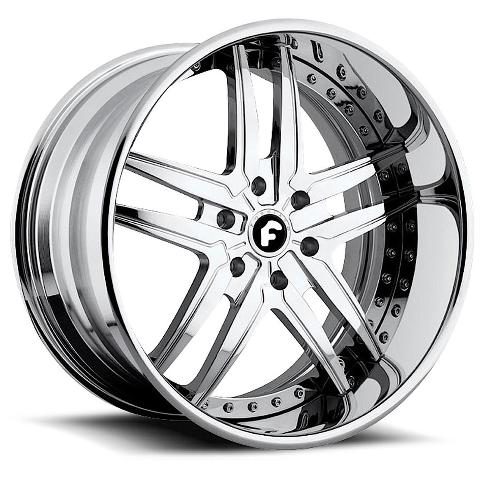 Forgiato Vizzo Chrome Finish Wheels