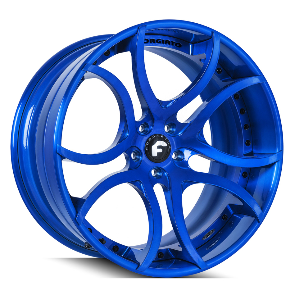 Forgiato S216 Brushed Blue Finish Wheels