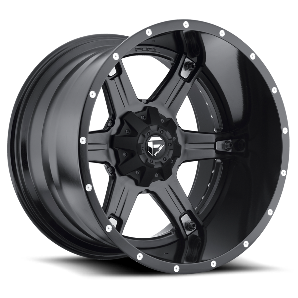 Fuel Coupler D556 Wheels | One Piece | Black and Machined with Dark Tint Finish