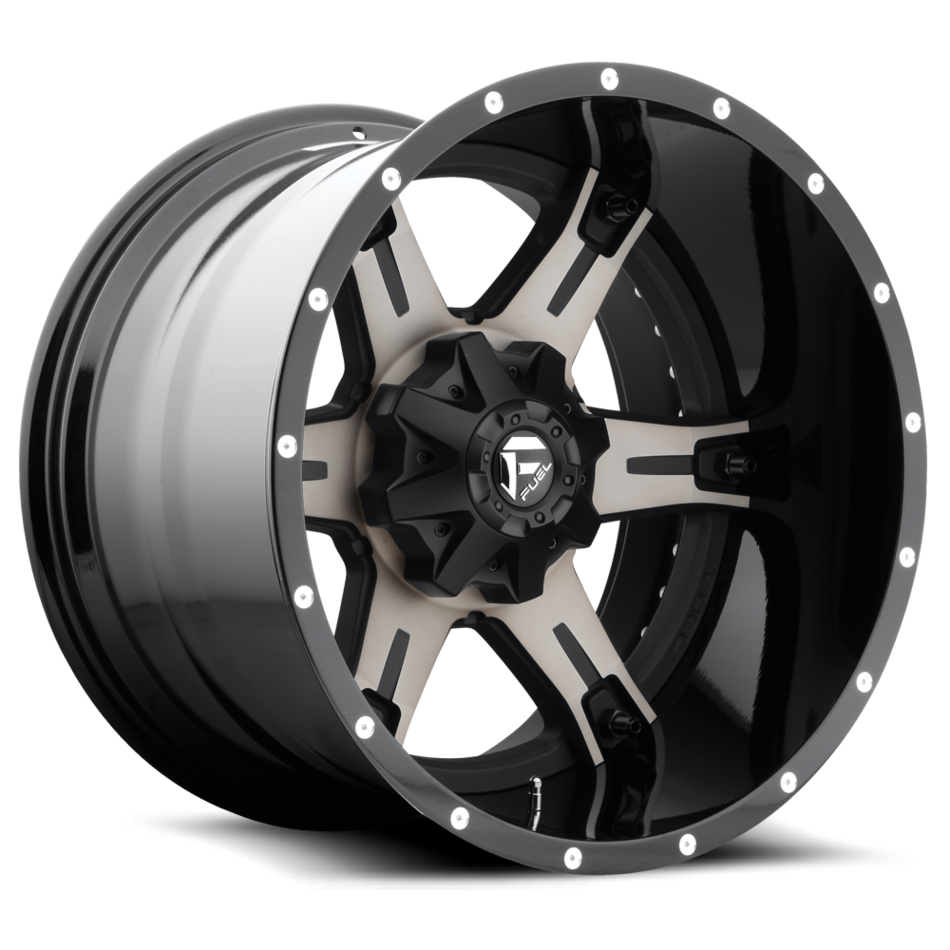 Fuel Driller D257 Black and Machined with Dark Tint Two Piece Off-Road Wheels