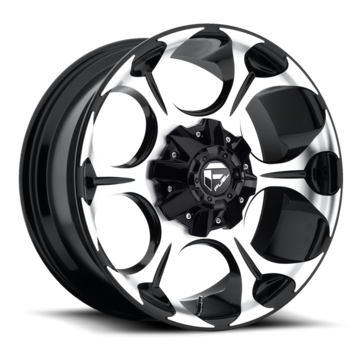 Fuel Dune D524 Machined Black One Piece Off-Road Wheels