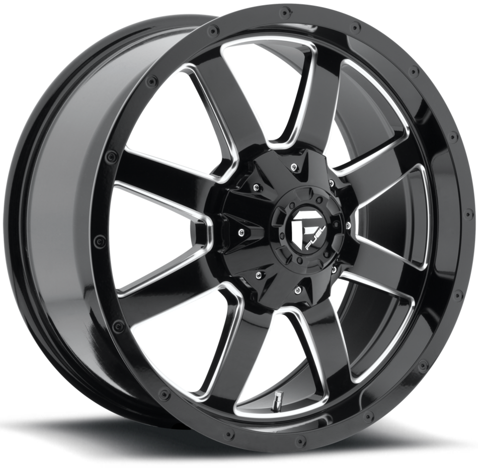 Fuel Frontier D535 Gloss Black with Milled Accents One Piece Off-Road Wheels