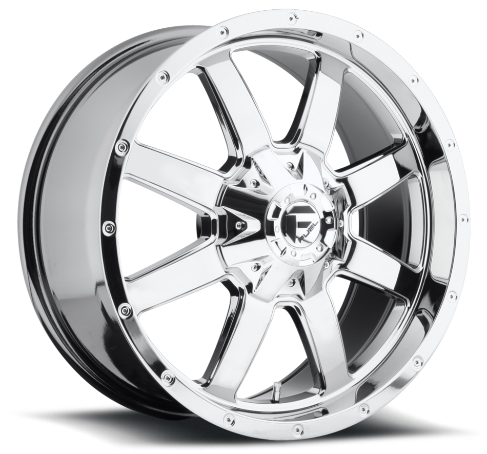 Fuel Frontier D543 PVD Chrome One Piece Off-Road Wheels