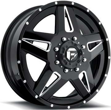 Fuel Full Blown D254 Custom Dually Two Piece Wheels - Front
