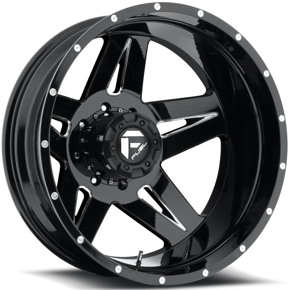 Fuel Full Blown D254 Custom Dually Two Piece Wheels - Rear