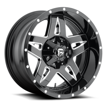 Fuel Full Blown D554 Gloss Black with Milled Accents One Piece Off-Road Wheels