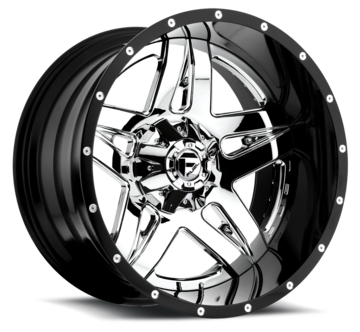 Fuel Full Blown D253 Chrome with Gloss Black Lip Two Piece Off-Road Wheels