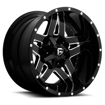 Fuel Full Blown D253 Wheels | Two Piece | Chrome with Gloss Black Lip Finish
