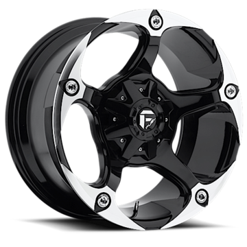 Fuel Havok D549 Gloss Black and Machined One Piece Off-Road Wheels