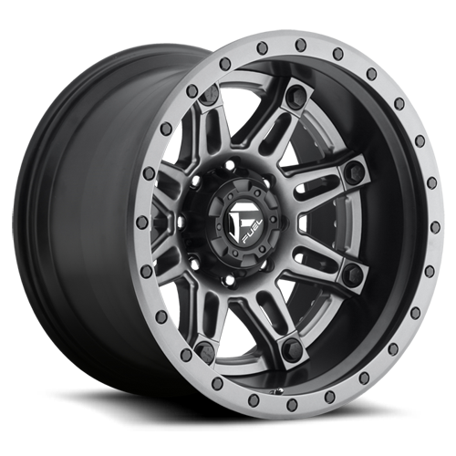 Fuel Hostage II D232 Anthracite Center with Matte Black and Anthracite Outer Two Piece Off-Road Wheels