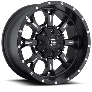 Fuel Krank D517 Matte Black with Milled Accents One Piece Off-Road Wheels