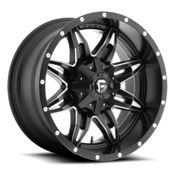 Fuel Lethal D567 Black and Milled Deep Lip Wheels