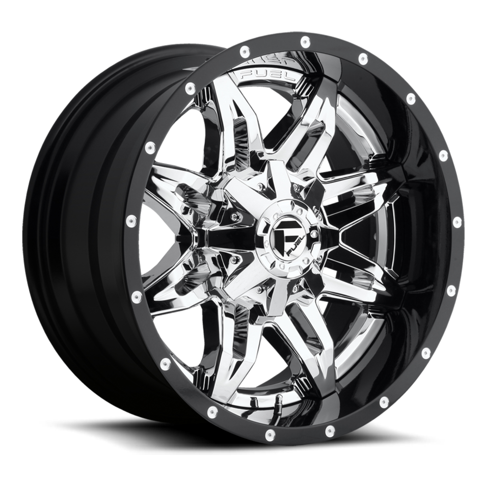 Fuel Lethal D266 Chrome with Gloss Black Lip Two Piece Off-Road Wheels