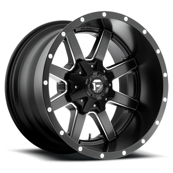 Fuel Maverick D538 Black and Milled Deep Lip Wheels