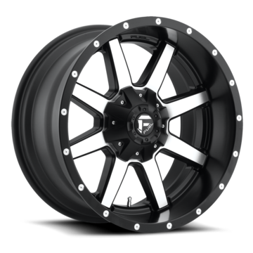 Fuel Maverick D537 Black and Machined One Piece Off-Road Wheels