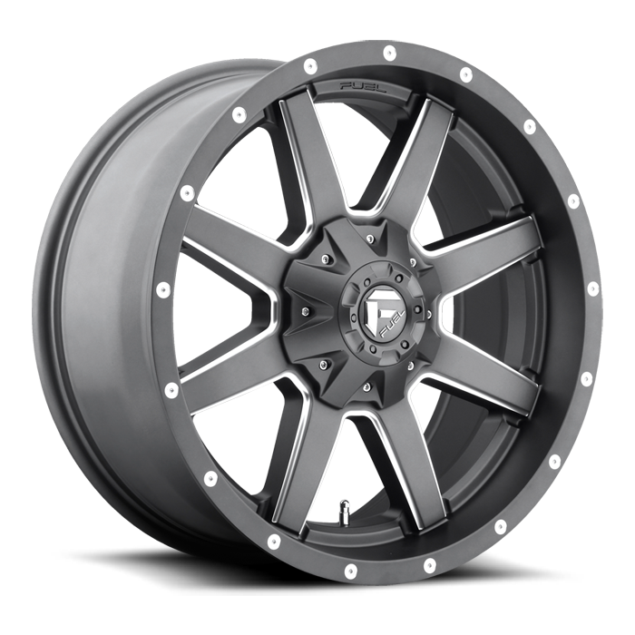 Fuel Maverick D542 Anthracite and Milled Spokes One Piece Off-Road Wheels