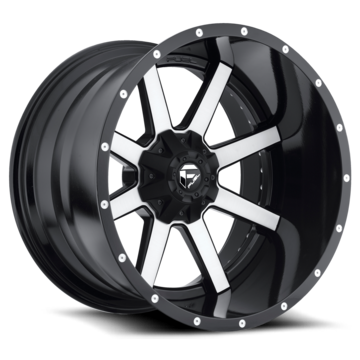 Fuel Maverick D261 Black and Machined with Gloss Black Lip Two Piece Off-Road Wheels