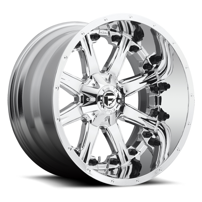 Fuel Nutz D540 Chrome Deep Lip Wheels