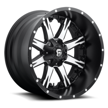 Fuel Nutz D541 Black with Machined Face Deep Lip Wheels