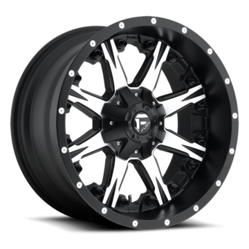 Fuel Nutz D541 Black and Machined One Piece Off-Road Wheels