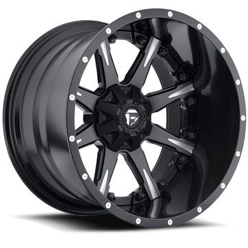 Fuel Nutz D251 Matte Black and Milled with Gloss Black Lip Two Piece Off-Road Wheels