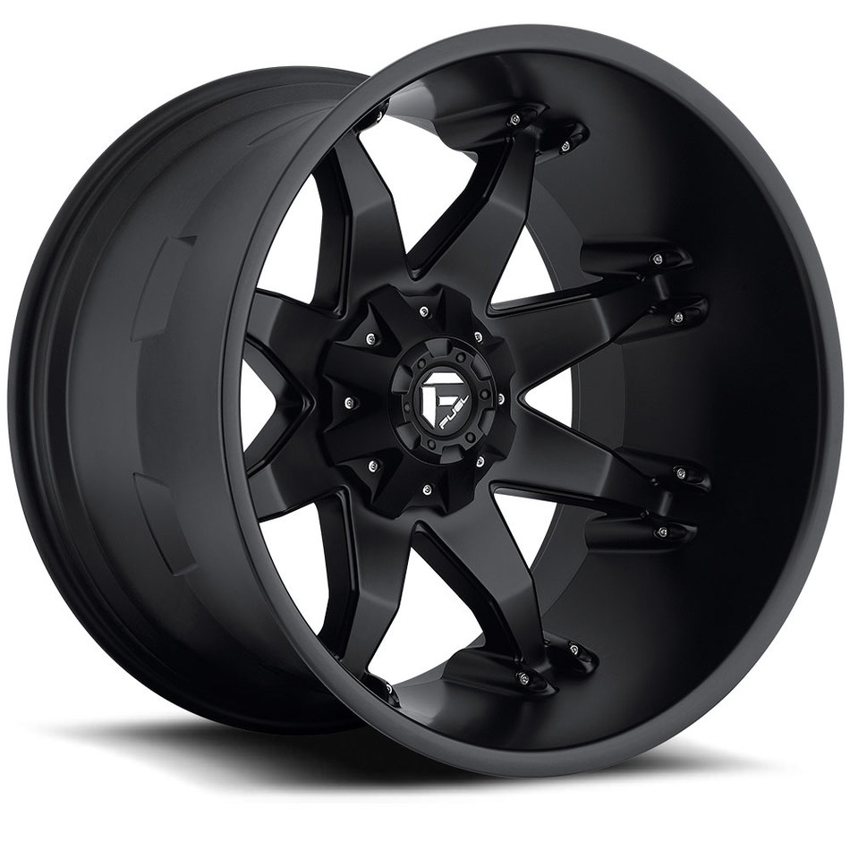 Fuel Octane D509 Matte Black Deep Lip Wheels