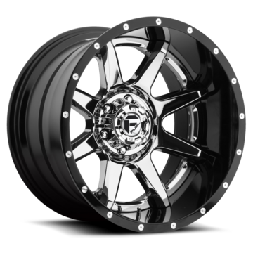 Fuel Rampage D237 Chrome with Gloss Black Lip Two Piece Off-Road Wheels