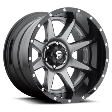 Fuel Rampage D238 Anthracite Center with Gloss Black Lip Two Piece Off-Road Wheels