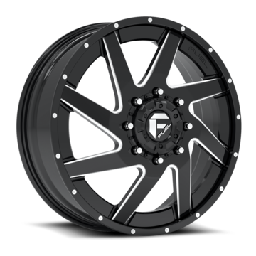 Fuel Rampage D238 Wheels | Two Piece | Anthracite Center with Gloss Black Lip Finish